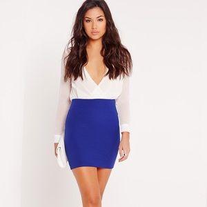 MISSGUIDED Scuba Bodycon Mini Skirt